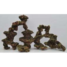 仿珊瑚石 全套六件