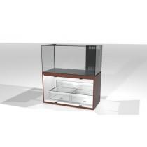 24寸長 18寸闊 20寸高  全超白水晶玻璃滴流連沙缸櫃